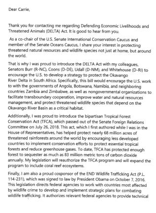Letter from Senator Portman 1