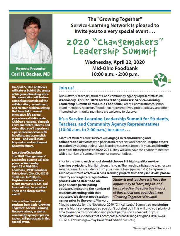 Changemakers Leadership Summit Newsletter