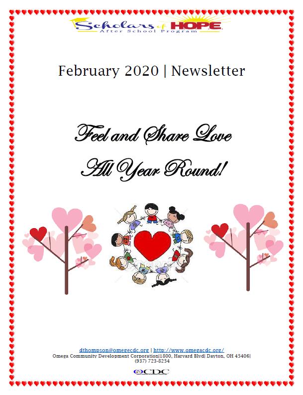 Omega - February 2020 Newsletter Clip