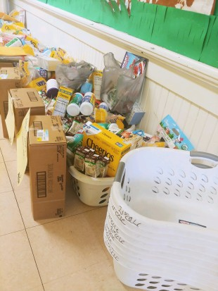 CIS GEMS after school baskets helping to house food for families